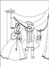 Раскраска королева и король
