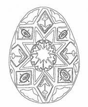 Раскраска пасхальное яйцо с рисунком