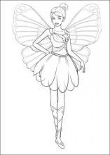 Раскраска барби с огромными крыльями