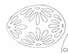 Раскраска пасхальное яйцо с цветами