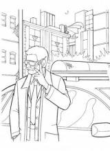 Раскраска Полиция работает с Бэтменом