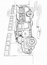 Раскраски пожарный автомобиль