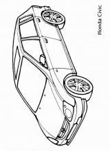 Раскраски легковые автомобили Хонда Сивик