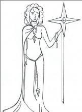 Раскраска королева со звездой