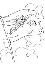 Раскраска Пиратский флаг