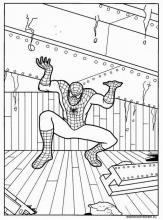 Раскраска Человек паук