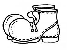 Раскраска мужские ботинки