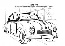 Раскраски Старинные автомобили Tatra 600