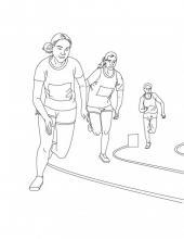 Раскраска спортсмены