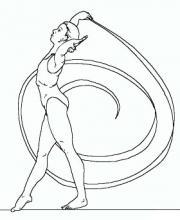 Раскраска спортсмен с ленточкой