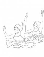 Раскраска спортсмены плаванье