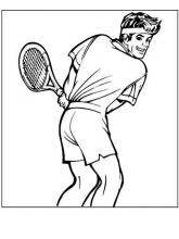 Раскраска спортсмен тенисист