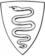 Раскраска эмблема змея
