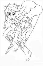 Раскраски девушки эквестрии радуга