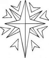 Раскраска звезда  восьмигранная