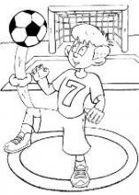 Раскраска спортсмен футболист