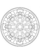 Раскраски - узоры, орнамент.на тарелке