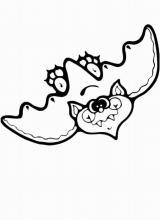 Раскраска Летучая мышь