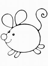 Раскраска Мышь