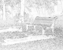 Раскраска осенний пейзаж