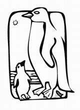 Раскраска Пингвин