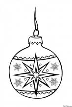 Раскраска Новогодний шар со звездой