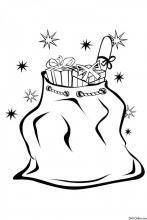 Раскраска Мешок с подарками