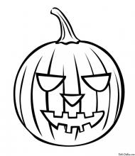 Раскраска Хэллоуинская тыква