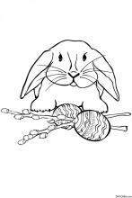Раскраска Пасхальный кролик