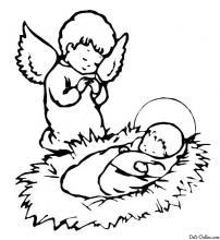 Раскраска Рождение Христа