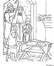 Раскраска Иисус Христос родился