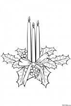 Раскраска Рождественские свечи