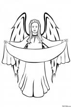 Раскраска Рождественский ангел