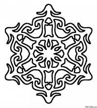 Раскраска Снежинка - звездочка
