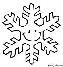Раскраска Снежинка - смайлик