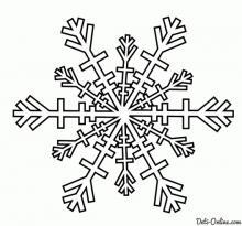 Раскраска Идеально ровная, симметричная снежинка