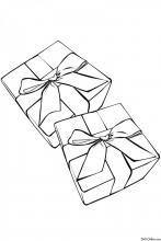 Раскраска Подарочные коробки