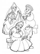 Раскраска три девицы