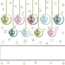 Раскраска яркие новогодние шарики