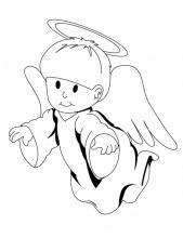 Раскраска милый ангел