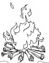 Раскраски на тему осторожно огонь