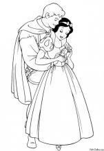 Раскраска Белоснежка с принцем