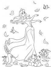 Раскраска Принцесса Аврора