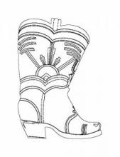Раскраска обувь / Сапог с орнаментом