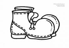 Раскраска пара ботинок