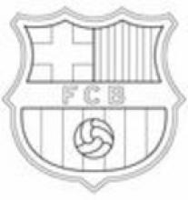 Раскраска  эмблема футбольных клубов - Европа.