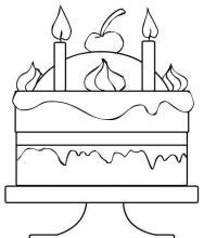 Раскраска двухярусный тортик