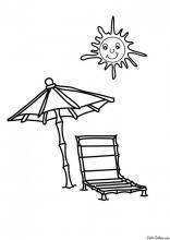 Раскраска Лето на пляже