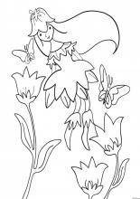 Раскраска Фея Весна