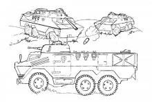 Раскраска танки